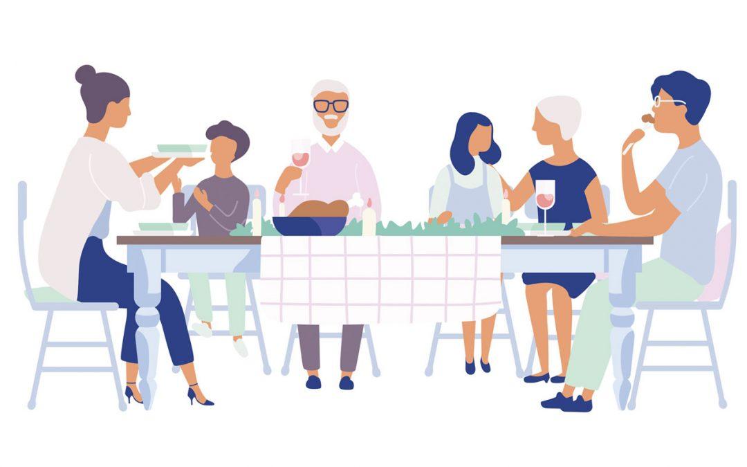 La mesa en familia